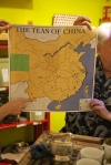 Here is our handy map of China that we use to show were the tea one is tasting comes from.