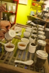 Most all of the teas we brew up can go for several pours and so one is able to drink to their hearts content.